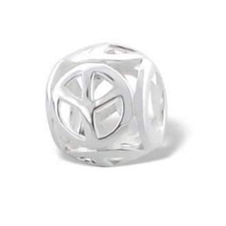 "Stříbrný korálek na Pandora náramek ""Znak míru"". Ag 925/1000"